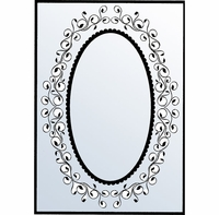 Nellie Snellen Embossing Folder - Oval Swirl Frame