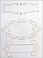 Nestabling Self-Adhesive Embellishments - Fancy Tag 2/White Pearl