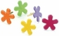 Painted Metal Paper Fasteners - Assorted Tropical Funky - Flowers