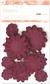 Paper Flowers Mixed Pack - Burgundy