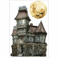 Paper House 3-D Sticker - Haunted House