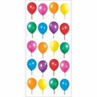Paper House Puffy Stickers - Birthday Balloons