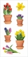 Paper House StickyPix Stickers - Spring Potted Flowers