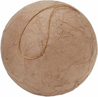 Paper Mache Ball Ornament - 3.94""