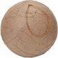 Paper Mache Wrinkled Ball Ornament - 80mm