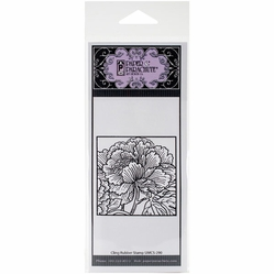 Paper Parachute Cling Rubber Stamps - Flower In Square - Click to enlarge