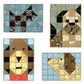Paper Quilt Pattern - Dog Friends