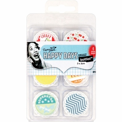 Papermania Happy Days Bottled Decorative Toppers - Cherry Pie - Click to enlarge