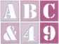 Paperware Stitched Letters & Numbers - Pink