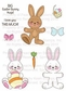 Peachy Keen Clear Stamp Assortment - Bunny Dolls