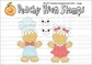 Peachy Keen Clear Stamp Assortment - Faceless Gingerbread Dolls Large