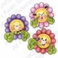 Peachy Keen Clear Stamp Assortment - Funny Flowers