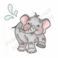 Peachy Keen Clear Stamp Assortment - Happy-Go-Lucky Elephant