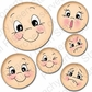 Peachy Keen Clear Stamp Face Assortment - Everyday Character