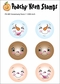 Peachy Keen Clear Stamp Face Assortment - Snowmany 2