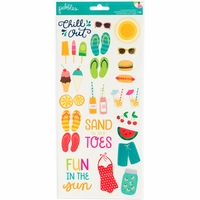 Pebbles Fun In The Sun Cardstock Stickers - Icons