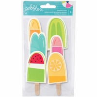 Pebbles Fun In The Sun Shaped Cards - Popsicles