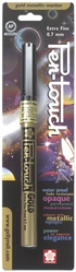 Pen-Touch Metallic Marker - Extra Fine Point 0.7mm Gold Ink* - Click to enlarge