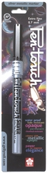 Pen-Touch Metallic Marker Extra Fine Point 0.7mm - Silver Ink - Click to enlarge