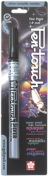 Pen-Touch Metallic Marker - Fine Point 1mm Silver Ink* - Click to enlarge