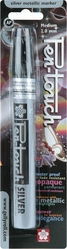 Pen-Touch Metallic Marker Medium (2mm) Point - Silver - Click to enlarge