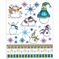 "Penny Black Christmas Sticker Sheet 7""x9"" Every Christmas"