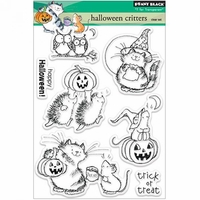 "Penny Black Clear Stamps 5""x6.5"" Sheet - Halloween Critters"