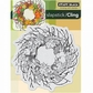 "Penny Black Cling Rubber Stamp 4""x5.25"" - Autumn Wreath"