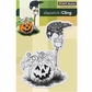 "Penny Black Cling Rubber Stamp 4""x6"" - Halloween Visit"