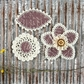 "Pensacola Fabric & Paper Flowers 2.25"" to 3"" - Mauve"