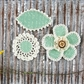 "Pensacola Fabric & Paper Flowers 2.25"" to 3"" - Pea"