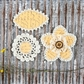 "Pensacola Fabric & Paper Flowers 2.25"" to 3"" - Sunshine"