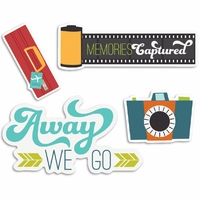 Perfect Vacation Cardstock Die-Cuts - Flashy