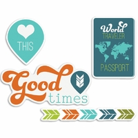 Perfect Vacation Cardstock Die-Cuts - Heart This