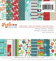 "Perfect Vacation Paper Pad 6""x6"""