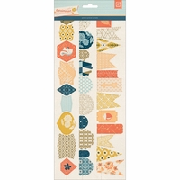 Persimmon Stitched Die-Cut Paper Garland 12""