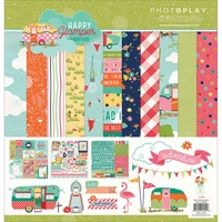 "Photo Play Happy Glamper Collection Pack 12""x12"""