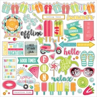 "Photo Play Summer Daydreams Stickers 12""x12"" - Element"