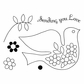 Pink Persimmon Clear Stamp - Love Dove