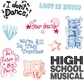 Plaid Clear Stamps in Case - High School Musical/Catch Phrases