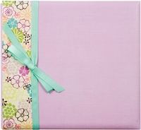"Postbound Album With Ribbon 12""x12"" - Lavender Floral"