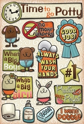 Potty Training Cardstock Stickers - Time To Go Potty - Click to enlarge