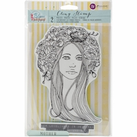 Jamie Dougherty Bloom Cling Stamp - Mother