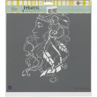 "Jamie Dougherty Bloom Stencil - 12""x12"" - Free Spirit"