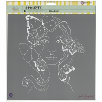 "Jamie Dougherty Bloom Stencil - 12""x12"" - Sharon"