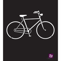 "Prima Designer Stencil 6""x6"" - Bicycle"