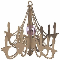 Prima Marketing DIY Wooden Chandelier - Traditional