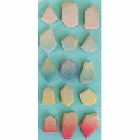 Prima Marketing Geo Shapes Wooden Embellishments - Ombre Crush