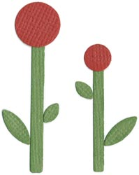 "QuicKutz DoubleKutz Dies 2""x2"" - Flowers (Posies) - Click to enlarge"