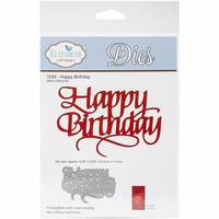 Quietfire Wafer Thin Metal Die - Happy Birthday